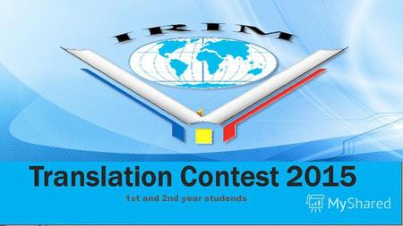 Translation Contest 2015 1st and 2nd year studends.