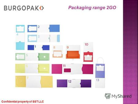 Confidential property of SST LLC Packaging range 2GO.