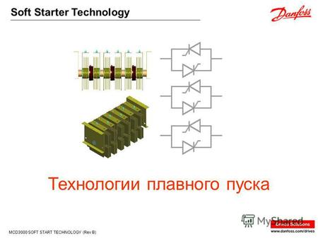 Soft Starter Technology MCD3000 SOFT START TECHNOLOGY (Rev B) Технологии плавного пуска.