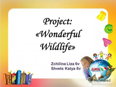 Zchilina Liza 6v Shvets Katya 6v. WELCOME TO THE MAGIC WORLD OF THE Wildlife!