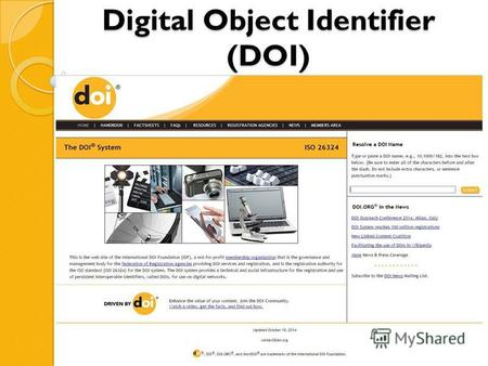 Digital Object Identifier (DOI). В 2014 году учредитель журнала «Экономические и социальные перемены: факты, тенденции, прогноз» Федеральное государственное.