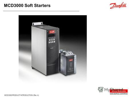 MCD3000 Soft Starters MCD3000 PRODUCT INTRODUCTION (Rev A)