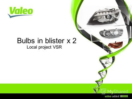 Bulbs in blister x 2 Local project VSR. I Update date I 2 Ассортимент.