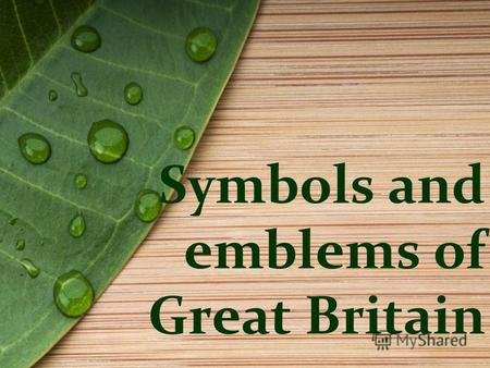 Symbols and emblems of Great Britain. The Union Jack.