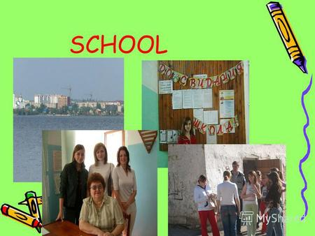 SCHOOL My school My school The clock says ten, The clock says ten, Youll be late again – Hurry, rush to school: The clock is right, But it is ten at night,