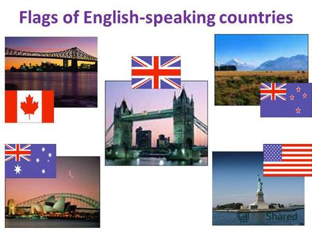 Flags of English-speaking countries. The United Kingdom of Great Britain and Northern Ireland.