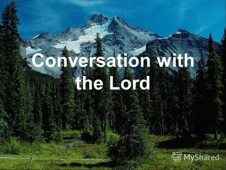 Conversation with the Lord. Once I walked in a forest and understood that it is possible to talk to God as He is in us.