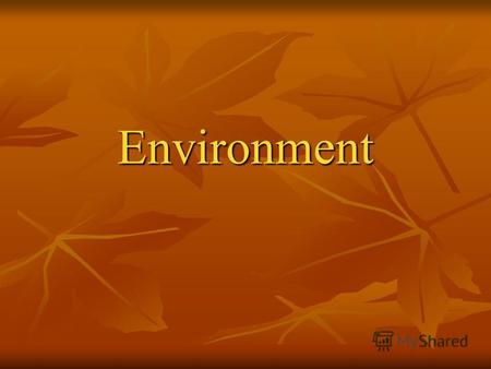 Environment. What is the ecology? Ecology-it a science about connections between alive essences and environment surrounding them,and between the person.