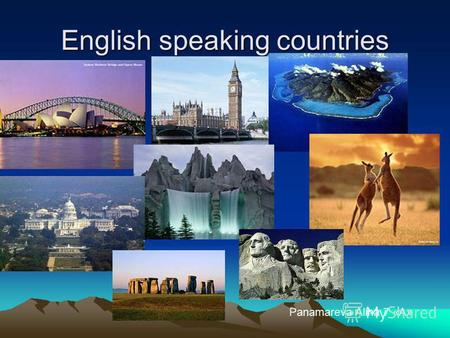 English speaking countries Panamareva Alina 7 «А».