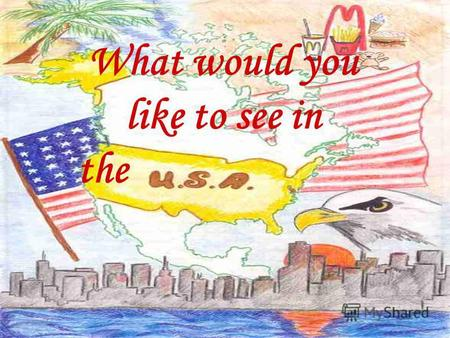 What would you like to see in the. The USA and its attractions.