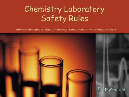 Chemistry Laboratory Safety Rules. Sharps Safety A high degree of precaution must always be taken with any sharp items used in the laboratory, including.