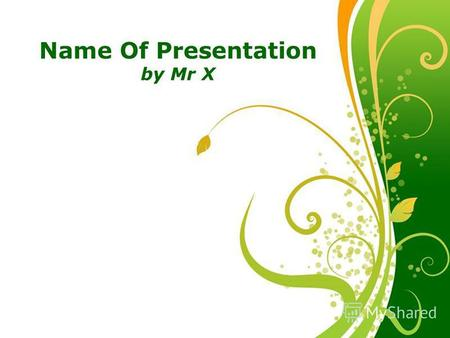 Click here to download this powerpoint template : Green Floral Free Powerpoint TemplateGreen Floral Free Powerpoint Template For more : Powerpoint Template.