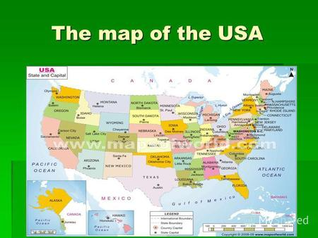 The map of the USA The map of the USA. The Capitol The Capitol.
