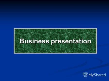 Business presentation. Types of presentations For businessTradingSocial.