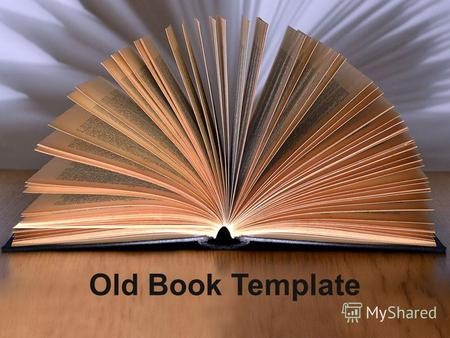 Old Book Template. Bullet Point Slide Bullet point –Sub Bullet.