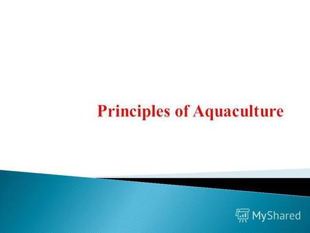 To enhance students knowledge in understanding aquaculture, advanced aquaculture production systems and engineering that will enable them to design, construct,