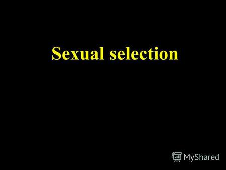 Sexual selection. Sexual dimorphism is very common in nature.