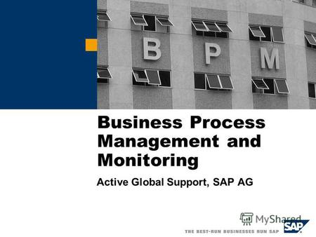 Business Process Management and Monitoring Active Global Support, SAP AG.
