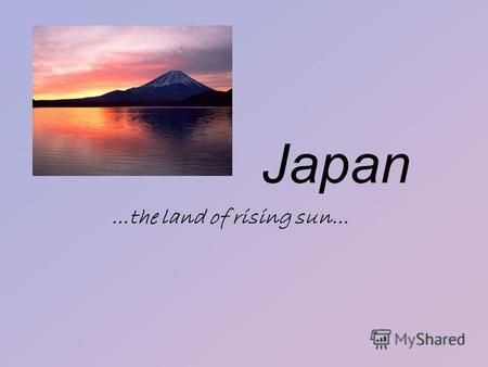 An introduction to the term the land of the rising sun japan