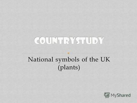 National symbols of the UK (plants). England Scotland Wales Northern Ireland.