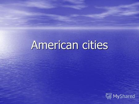 American cities. Washington, the Nations Capital Washington D.C. is situated on the Potomac River. The author of the design for the capital city was the.