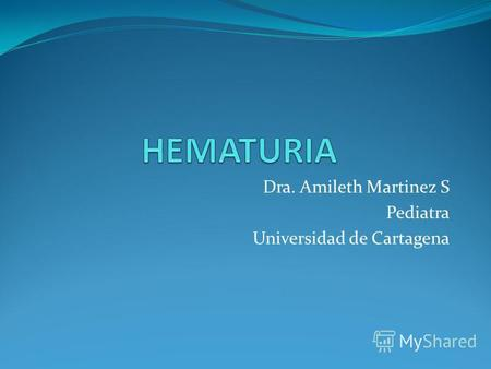 Dra. Amileth Martinez S Pediatra Universidad de Cartagena.