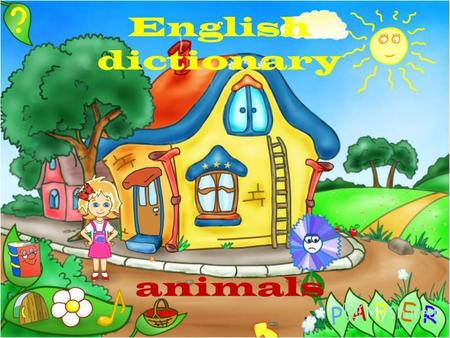 English dictionary animals The reading test a duck а dog a cat a bird a horse а rabbit a frog а bee a bear a sheep a butterfly a fish.