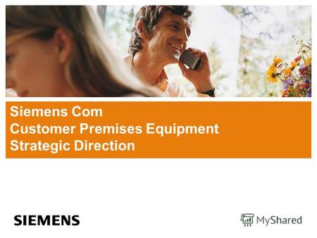 Siemens Com Customer Premises Equipment Strategic Direction.