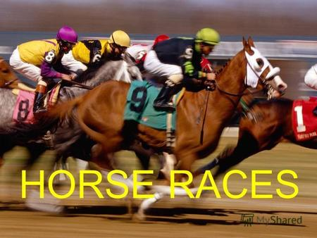 HORSE RACES. Horse racing is an equestrian sport, involving two or more jockeys riding horses over a set distance for competition.