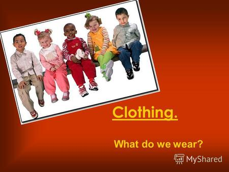 Clothing. What do we wear?. Do you like shopping?