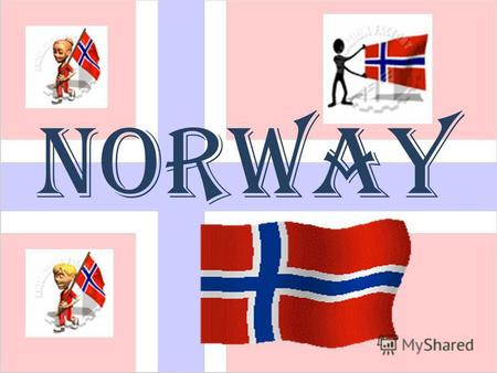 Norway Norway is located in Europe. It is bordered by Sweden, Finland and a tiny bit of Russia. It is surrounded by the Norwegian Sea and the North Sea.