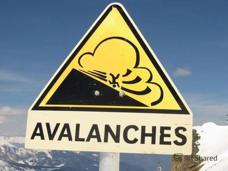 An avalanche is a rapid flow of snow down a sloping surface. While avalanches are sudden, the warning signs are almost always numerous before they let.