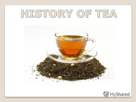 The history of tea has more than five thousand years and has its origins in ancient China. There are several legends about how people found the tea. One.