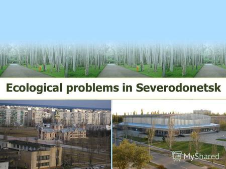 Ecological problems in Severodonetsk. LOGO Our town needs protection, so we should help it to develop and to be clean at once.