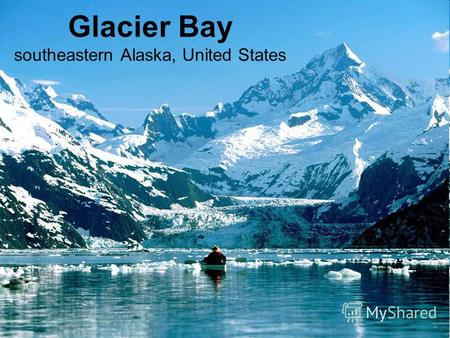 Glacier Bay southeastern Alaska, United States. Glacier Bay is in Alaska, where the mountain rise higher from the sea than any other place on the Earth.