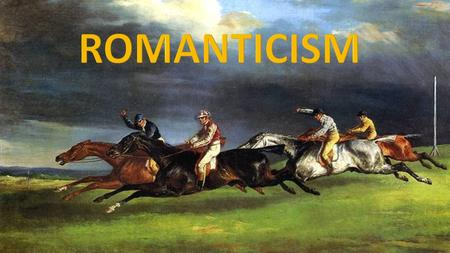 Romanticism was an artistic, literary, and intellectual movement that originated in Europe toward the end of the 18th century and in most areas was at.