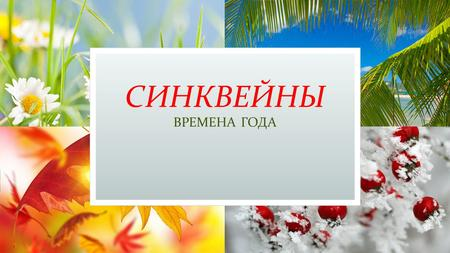 СИНКВЕЙНЫ ВРЕМЕНА ГОДА. SPRING Warm, cool Find, run, take The weather is fine. Flowers.