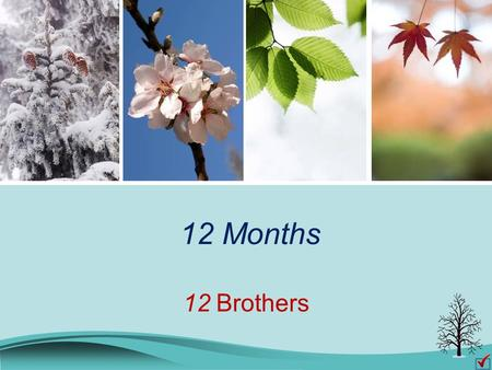 12 Months 12 Brothers. There are 12 months in a year. Do you know their names? January February March April May June July August September October November.