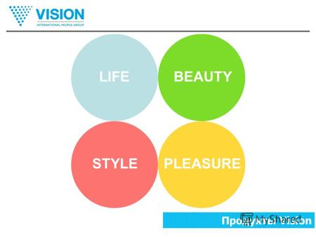 Продукты Vision LIFEBEAUTY PLEASURESTYLE Продукты Vision.