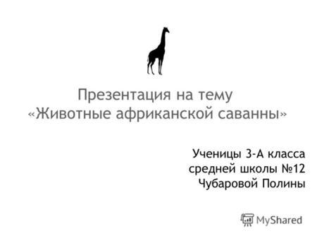 На животные тему города презентацию