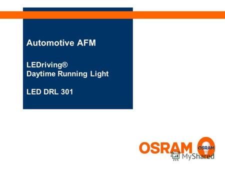 Automotive AFM LEDriving® Daytime Running Light LED DRL 301.
