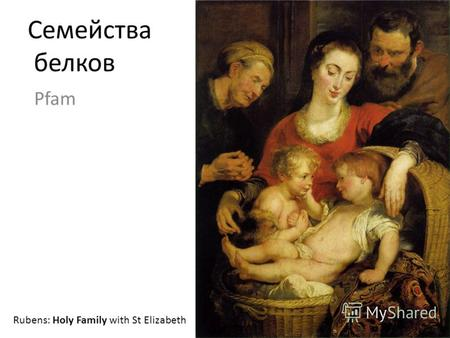 Семейства белков Pfam Rubens: Holy Family with St Elizabeth.