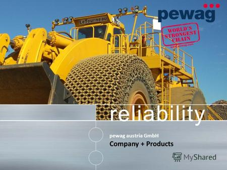 Reliability pewag austria GmbH Company + Products.