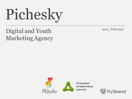 Pichesky Digital and Youth Marketing Agency 2011, February.