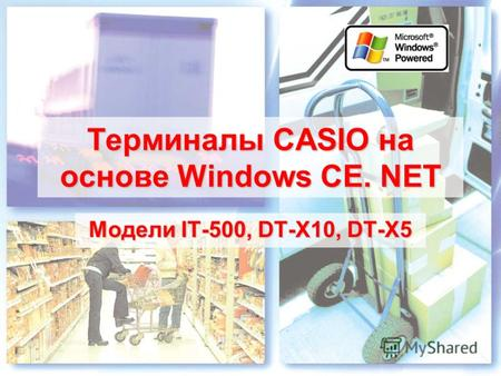 Терминалы CASIO на основе Windows CE. NET Модели IT-500, DT-X10, DT-X5.