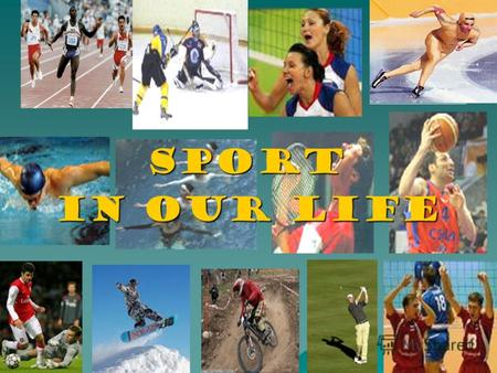 Sport Sport in Our Life. Sport plays a very important role in our life.