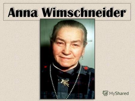 Anna Wimschneider