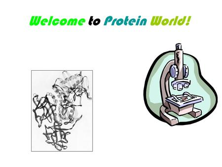 Welcome to Protein World!. Protein Chemistry in 18th Century Organic Chemistry Achievements: Wheat Gluten (Jacob Bekkary) - 1728 Egg albumin (K. Neyman)
