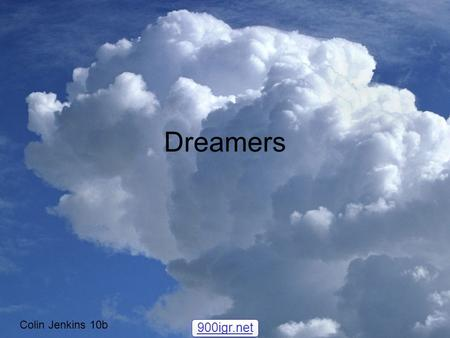 Dreamers Colin Jenkins 10b 900igr.net. Who is the dreamer, and when did they live? Joel Zimmerman or by his stage name Dead Mau5 (dead mouse) was born.