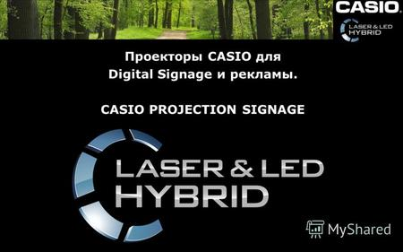 Проекторы CASIO для Digital Signage и рекламы. CASIO PROJECTION SIGNAGE.